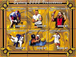 D - [37481]SUP//**/Mnh-Mozambique 2001 - Sydney, Sports, Vélo, Tennis, Tennis De Table, Judo, Football, Voley - Mozambique
