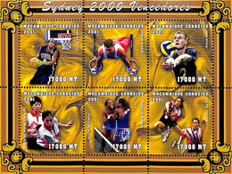 D - [37488]SUP//**/Mnh-Mozambique 2001 - Sydney, Sports, Basket Ball, Volley, Tennis De Table, Athlétisme - Otros