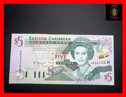 """EAST CARIBBEANS  5 $ 2001  P. 37  M  """"Montserrat""""   UNC - East Carribeans"""
