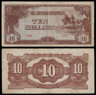 OCEANIA - WWII JAPANESE GOVERNMENT BANKNOTE - 10 SHILLINGS (1942) P#3a VF (NT#05) - Other