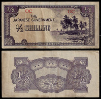 OCEANIA - WWII JAPANESE GOVERNMENT BANKNOTE - 1/2 SHILLING (1942) P#1a VF (NT#05) - Other
