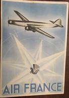 CPA - POST CARD, AIR FRANCE BRAZIL, BRAZIL, Partie De Natal Le 1/01/1939, Transport Aérien, Cachets Postaux, Timbres - Zonder Classificatie