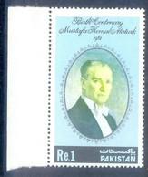 CC47D- Pakistan 1981 Birth Centenary Of Mustafa Kemal Ataturk. Color Colour Verity. Father Of Turkey. 450 - Pakistán