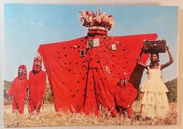Old Etno Postcard Danse Folklorique Koma R.A. Siguiri Republique De Guinee Africa 1960's - Guinea
