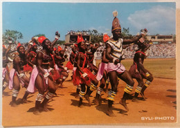 Old Etno Postcard Danse Folklorique Au Stade Du 28 Septembre Republique De Guinee Africa 1960's - Guinea
