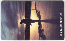 SWEDEN A-603 Chip Telia - Landscape, Coast, Sunset - Used - Sweden