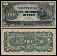 BURMA - WWII JAPANESE GOVERNMENT BANKNOTE - 100 RUPEES (1944) P#17a XF/AU (NT#05) - Other