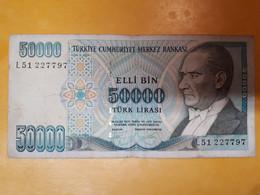 TURQUIE 50000 LIRES 1970 - Turkey