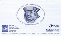 45 2901  ZNP 33  Noir Blanc Belgique  Feuillet NB  500 Ans Poste Européenne Turn François De Tassis Taxis  --2001 - Black-and-white Panes
