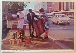 Old Postcard Curio Sellers Cairo Road Lusaka Zambia 1960's - Zambia