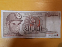 YOUGOSLAVIE 20000 DINARA 1987 - Yugoslavia