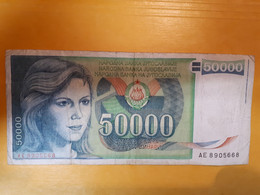 YOUGOSLAVIE 50000 DINARA 1988 - Yugoslavia
