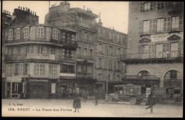 BREST - 2 Cartes PLACE Des PORTES Animées - Brest