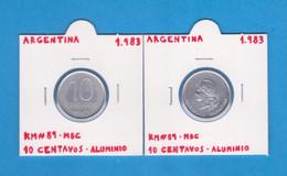 ARGENTINA  10  CENTAVOS  1.983  ALUMINIO  KM# 89  MBC / VF     T-DL-12.737 - Argentina