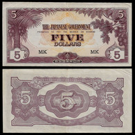 MALAYA - WWII JAPANESE GOVERNMENT BANKNOTE - 5 DOLLARS (1944) P#M6c VF/XF (NT#05) - Other