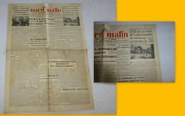 Journal Nord-Matin 19 Septembre 1945,destruction Maubeuge ; JL03 - 1950 à Nos Jours