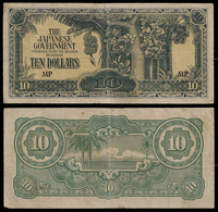 MALAYA - WWII JAPANESE GOVERNMENT BANKNOTE - 10 DOLLARS (1944) P#M7b VF (NT#05) - Other