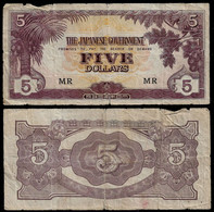 MALAYA - WWII JAPANESE GOVERNMENT BANKNOTE - 5 DOLLARS (1944) P#M6c F (NT#05) - Other