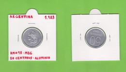 ARGENTINA  50  CENTAVOS  1.983  ALUMINIO  KM# 90  VF/MBC   DL-12.739 - Argentina