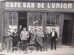 RARE CARTE POSTALE PHOTO CAFE BAR DE L'UNION BAR LE DUC RUE COUCHOT ANIMEE - Bar Le Duc