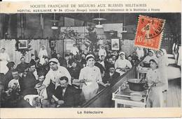 Société Française De Secours Aux Blessés Militaires HOPITAL AUXILIAIRE N° 34 (Croix Rouge) ....à Fécamp - Red Cross