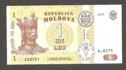 Moldavia - Banconota Non Circolata FdS Da 1 Leu P-8g - 2006 #19 - Moldova