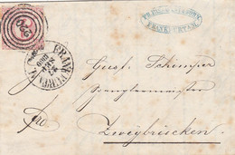 AD Thurn Und Taxis Brief 1860 Nr. 22 - Thurn And Taxis