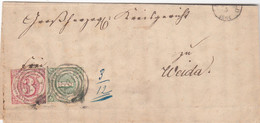 AD Thurn Und Taxis Brief 1864 Nr. 20 + 32 - Thurn And Taxis