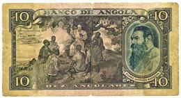 Angola - 10 Angolares - 1946.08.14 ( 1947.06.01 ) - Pick 78 - Serie 14sO - Padre António Barroso - PORTUGAL - Angola