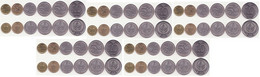 Kyrgyzstan - 5 Pcs X Set 6 Coins 10 50 Tyiyn 1 3 5 10 Som 2008 - 2009 UNC - Kyrgyzstan