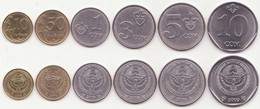 Kyrgyzstan - Set 6 Coins 10 50 Tyiyn 1 3 5 10 Som 2008 - 2009 UNC - Kyrgyzstan