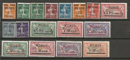 Timbre De Colonie Française Memel Neuf *  N 45/47/48/49/50/51/52/53/54/55/56/57/58/59/60/61/63 - Nuovi