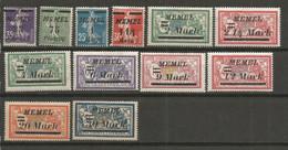 Timbre De Colonie Française Memel Neuf *  N 65 / 78 Manque Le N 71 Et 78 - Nuovi