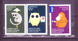 Australia 2009 MiNr. 3163 - 3165  Australien Fauna Owls Switch Off Lights Climate Protection 3v MNH**  6.30 € - Environment & Climate Protection