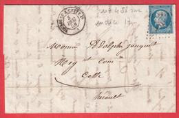 N°14 AMBULANT DE JOUR TOULOUSE A CETTE  LOSANGE TC1° POTHION N°458 INDICE 17 - Railway Post