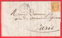 N°13 PC 3637 LA VILETTE SEINE POUR PARIS RECETTES REUNIES - 1849-1876: Periodo Classico