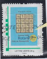 Rotary France 2014 Ribeauvillé Single Stamp RARE Error Albrecht Durer - Rotary, Lions Club