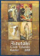 Aitutaki, 2015 Easter, Paintings By Murillo, Altdorfer, Copley, Blake S/S MNH** - Cristianismo
