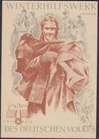 WHW Propaganda Tür Aufkleber Vignette JANUAR 1938/39 DES DEUTSCHEN VOLKES    - Cartas