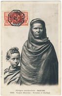 """SÉNÉGAL - 1908 - CàD """" LOANGO À BORDEAUX / L.L.N°4 """" Sur Yv.34 10c Faidherbe Sur CPA De Mauritanie - Covers & Documents"""