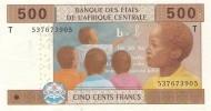 CENTRAL AFRICAN STATES P. 106Tb  500 F 2002 UNC - Republic Of Congo (Congo-Brazzaville)