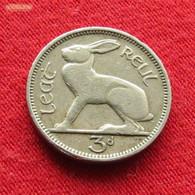 Ireland 3 Pence 1943 KM# 12a  Irlanda Irlande Ierland Eire Threepence 1/2 Reul 3 D 3d Pingin - Ireland