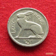 Ireland 3 Pence 1949 KM# 12a  Irlanda Irlande Ierland Eire Threepence 1/2 Reul 3 D 3d Pingin - Ireland