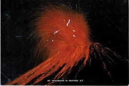Mount Ngauruhoe In Night-Time Eruption, New Zealand - Unused - New Zealand