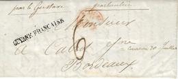 """1840- Lettre De Cayenne ( Guyane ) """"  GUYANE FRANCAISE  +  """" Par Le Gustave """"  + """"particulier """" Taxe 6 D Pour Bordeaux - 1801-1848: Precursors XIX"""