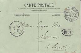 1907- C P A De GABES Pour La France + B M   ( Bateau  ? ) - Covers & Documents