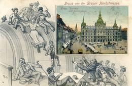 Autriche - Graz - Gruss Von Der Grazer Herbstmesse - Rathaus Und Herrenggasse - Attraction , Glissade Sur Un Tonneau - Graz
