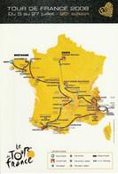 CARTE DU TOUR DE FRANCE CYCLISTE 2008 - Ciclismo