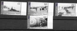 ASCENSION ISLAND, 2019, MNH, WWII, D-DAY, SHIPS,  MILITARY, 4v - WW2 (II Guerra Mundial)