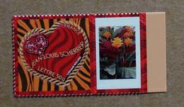 """P1-M1 : Autoadhésif - Timbre """"Saint-Valentin, Coeurs 2006 Jean-Louis Scherrer""""  Avec Une Vignette (Plante, Fleurs) - Gepersonaliseerde Postzegels"""